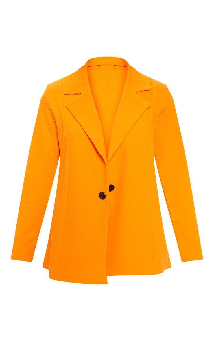 Orange Oversized Blazer | Coats & Jackets | PrettyLittleThing USA