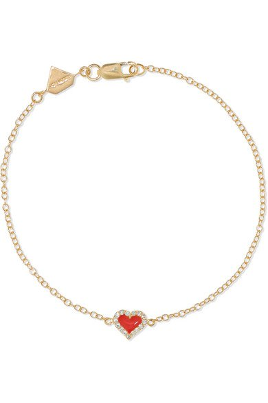 Alison Lou | 14-karat gold, diamond and enamel bracelet | NET-A-PORTER.COM