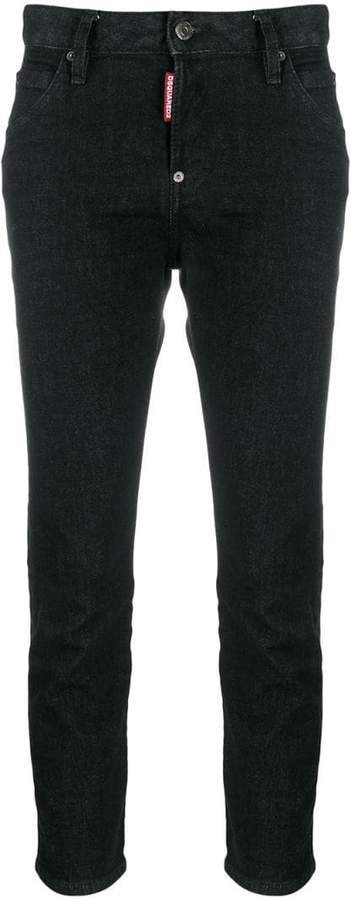 mid-rise cropped leg jeans