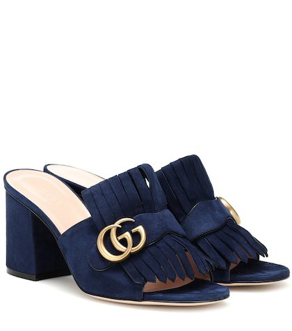 GG suede mules