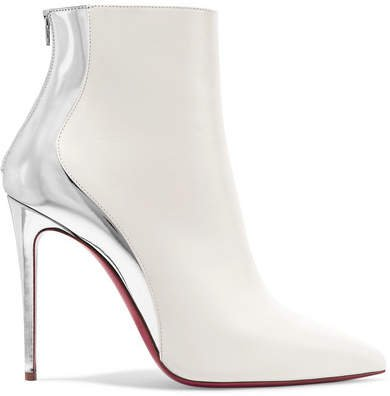 Delicotte 100 Smooth And Mirrored-leather Ankle Boots - White