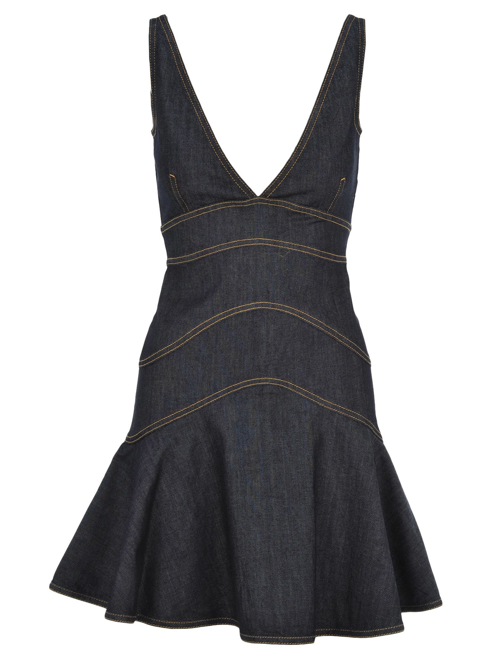 D Squared Peplum Denim Mini Dress