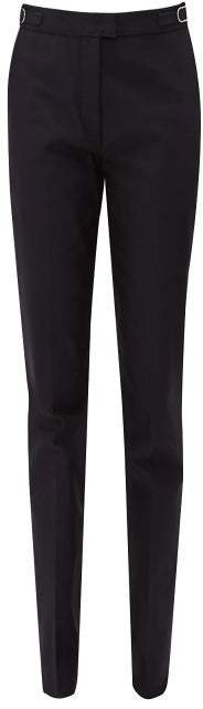 Armon Mid Rise Cotton Faille Trousers - Womens - Navy