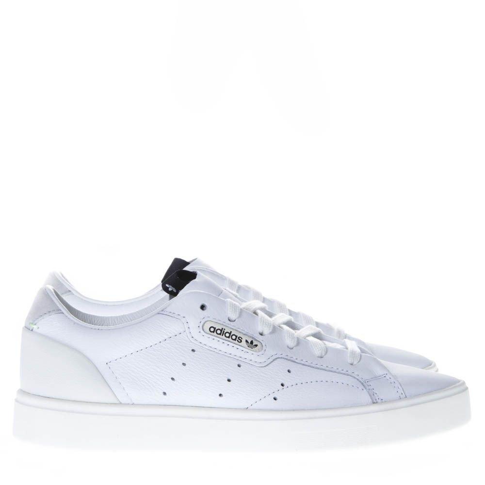 Adidas Originals Sleek W White Leather Sneakers