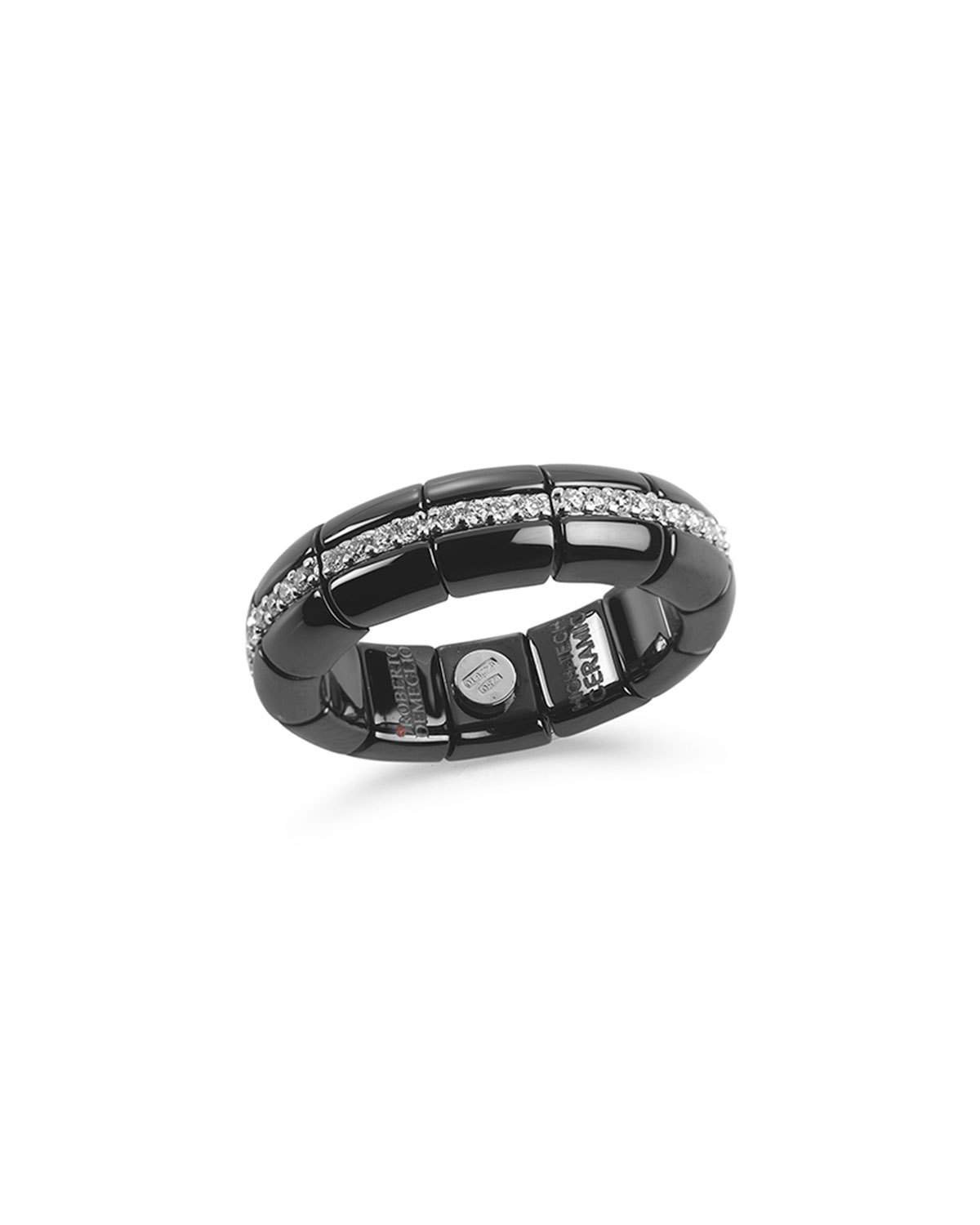 Roberto Demeglio Black Ceramic & 18K White Gold Eternity Ring
