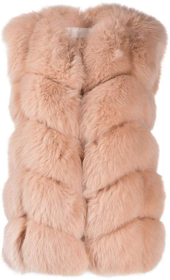 short fur gilet