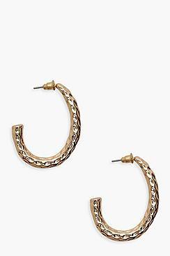 Textured Chunky Hoop Earrings