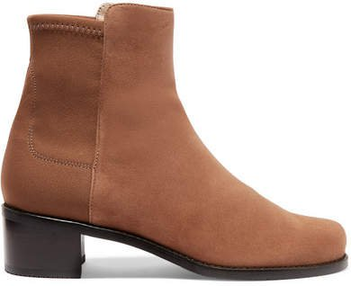 Easyon Reserve Suede And Neoprene Ankle Boots - Brown