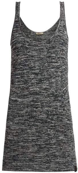 Extra Long Chenille Knitted Tank Top - Womens - Grey Multi