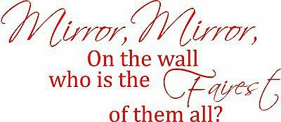 Small Wall Decal Sticker Mirror Mirror on the wall, Snow White Wall Quote Girls | eBay