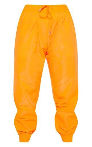 Neon Orange Drawstring Waist Pants | PrettyLittleThing USA