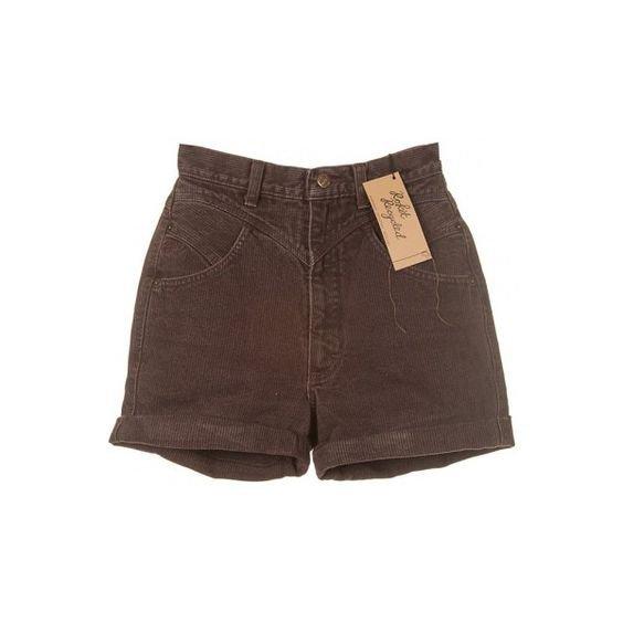 brown jean shorts