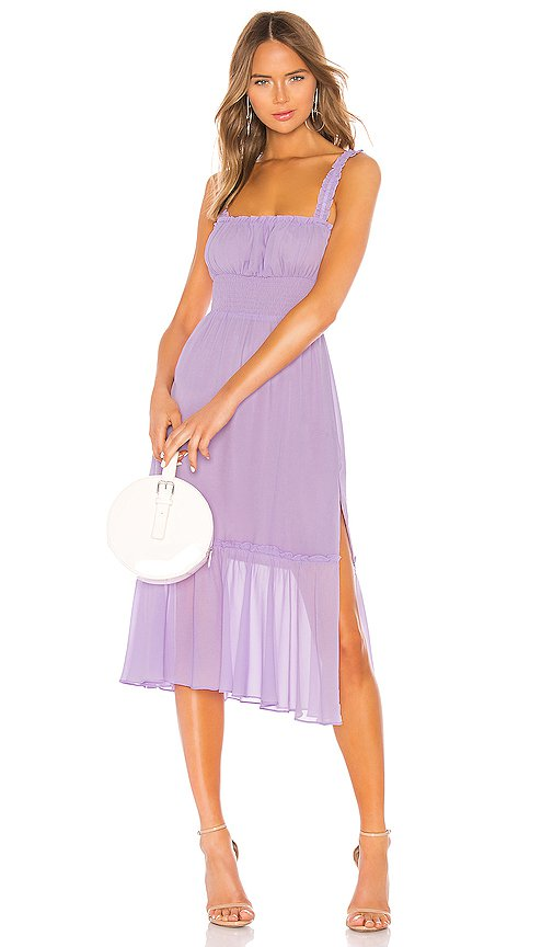 Lovers + Friends Arden Midi Dress in Lilac Purple | REVOLVE