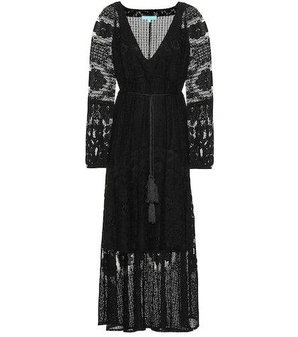 Melissa lace cotton-blend dress