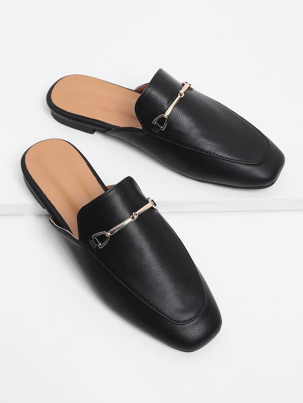 Platta skor med metall detalj   SHEIN SE
