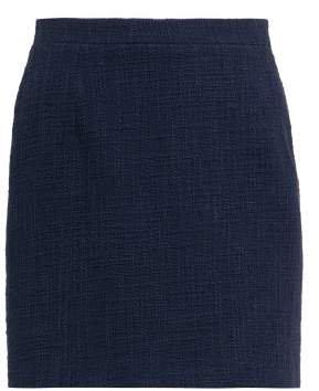 Alessandra Rich - High Rise Tweed Mini Skirt - Womens - Navy