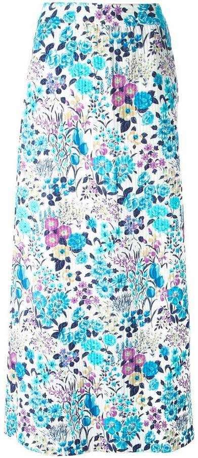 Pre-Owned floral print skirt