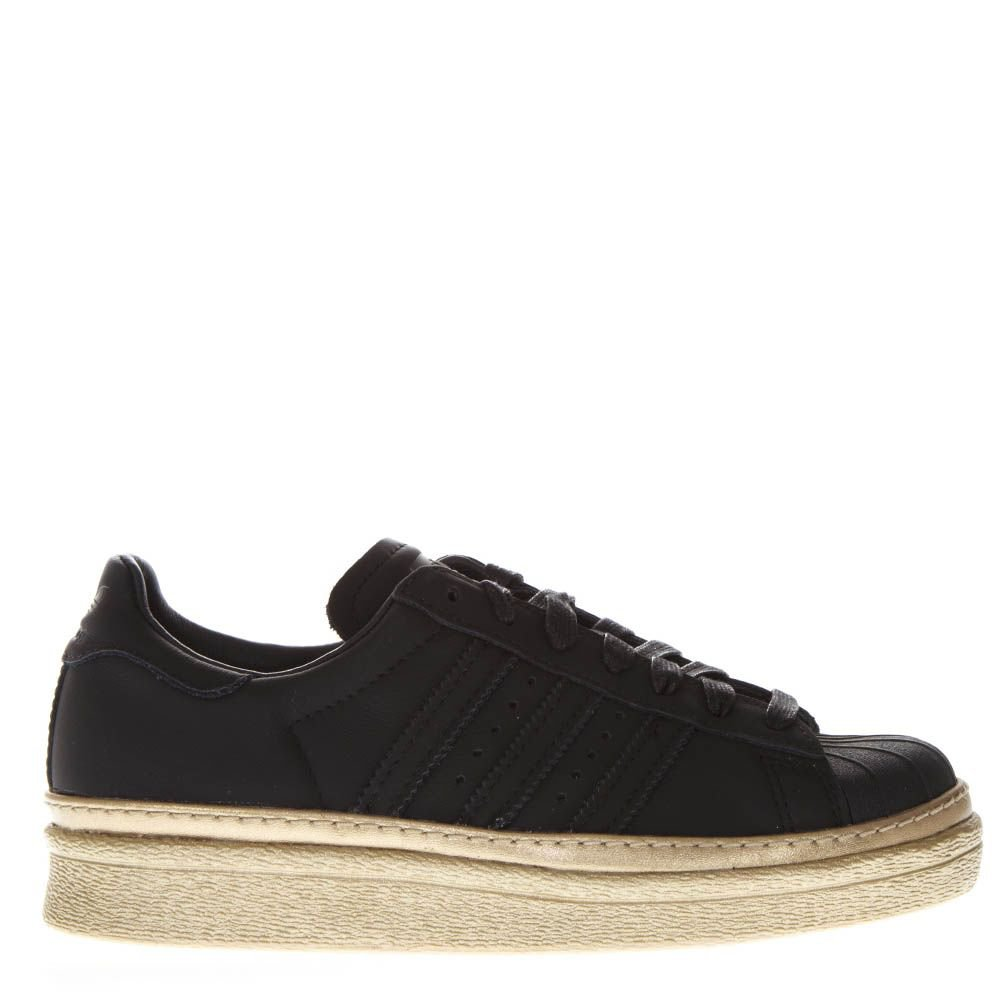 Adidas Originals Superstar 80's New Bold Black Leather Sneakers