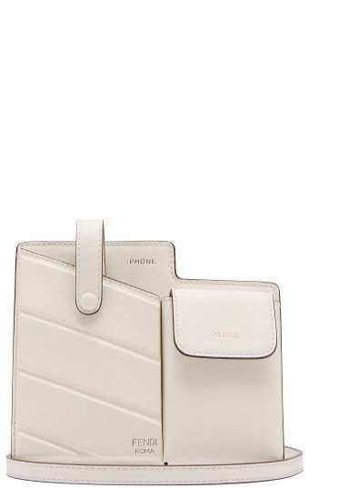 Mini Leather Cross Body Bag - Womens - White