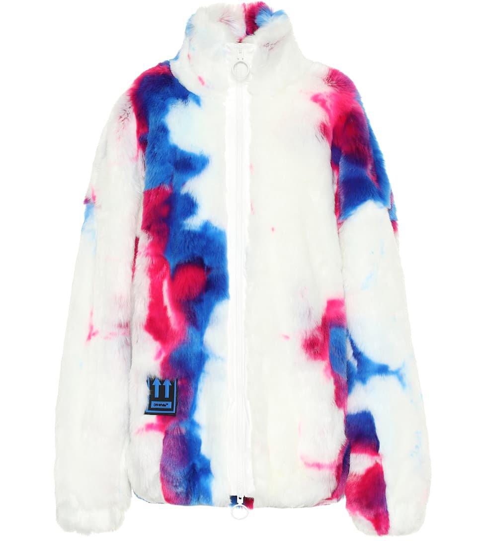 OFF-WHITE Printed faux fur jacket