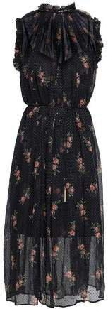 Floral-print Fil Coupe Silk-blend Midi Dress
