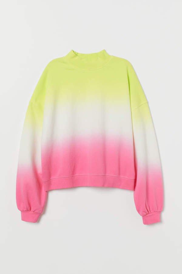 Mock-turtleneck Sweatshirt - Yellow
