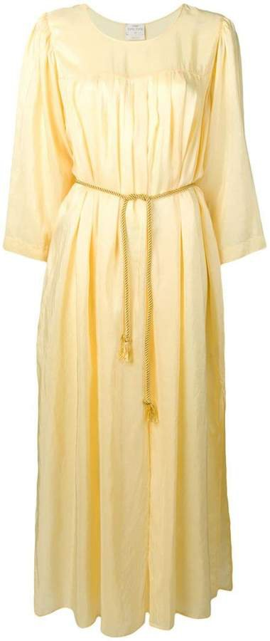 long ruched tunic dress