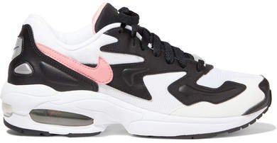 Air Max2 Light Mesh, Faux Leather And Suede Sneakers - Black