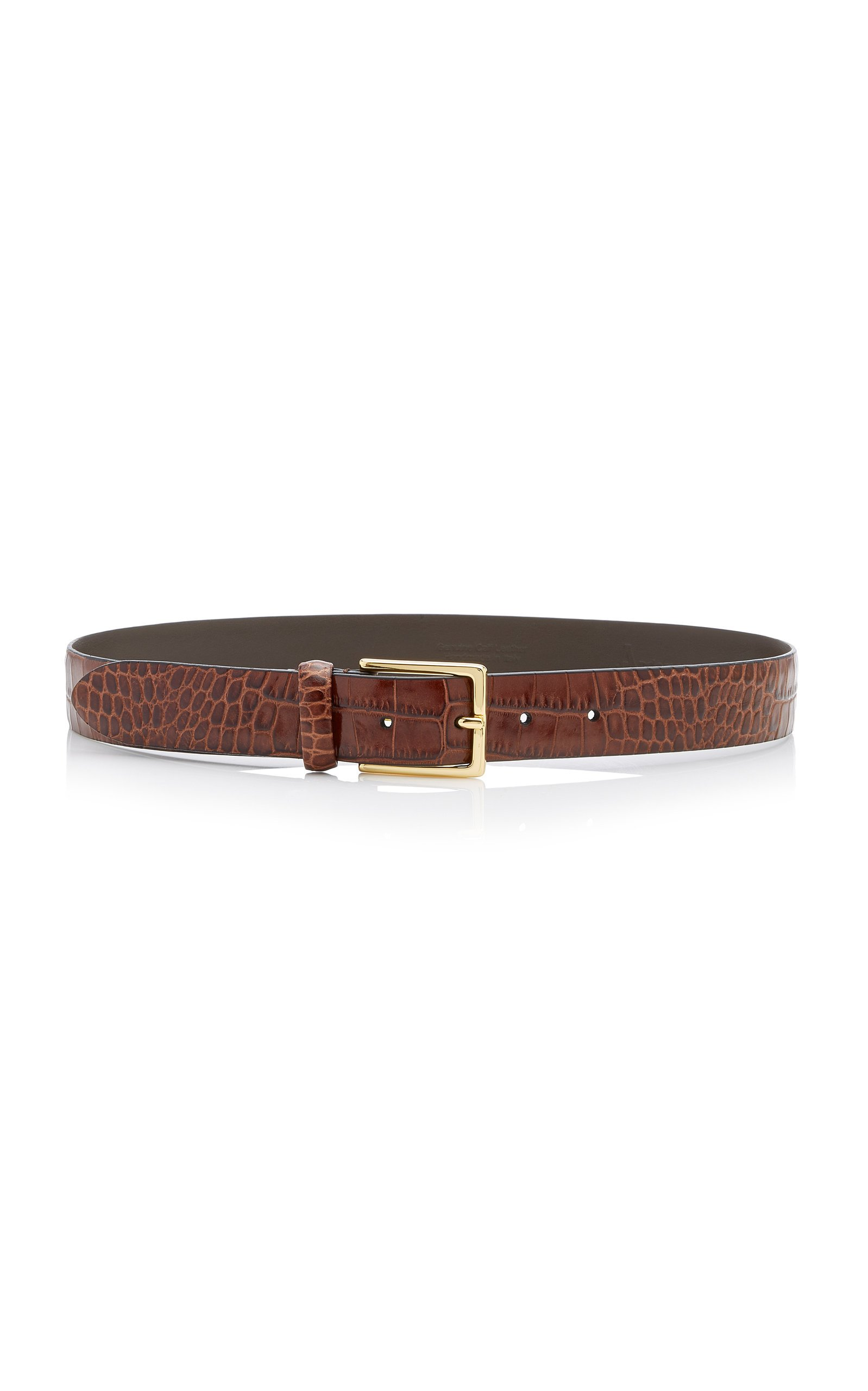 Anderson's Croc-Effect Glazed Leather Belt Size: 80 cm