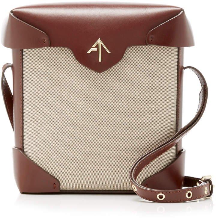 Manu Pristine Mini Leather and Canvas Shoulder Bag
