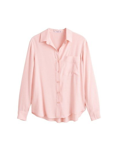 MANGO Pocket textured shirt