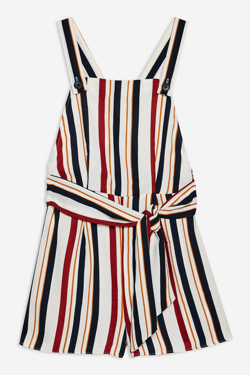 Striped Pinafore Romper - Rompers & Jumpsuits - Clothing - Topshop USA