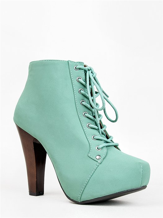 Mint Green Heel Boots