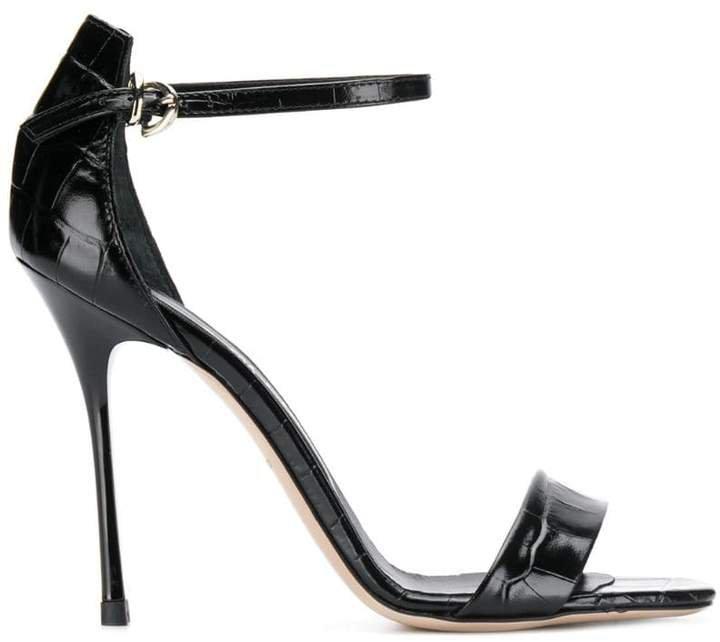 Marc Ellis crocodile embossed sandals