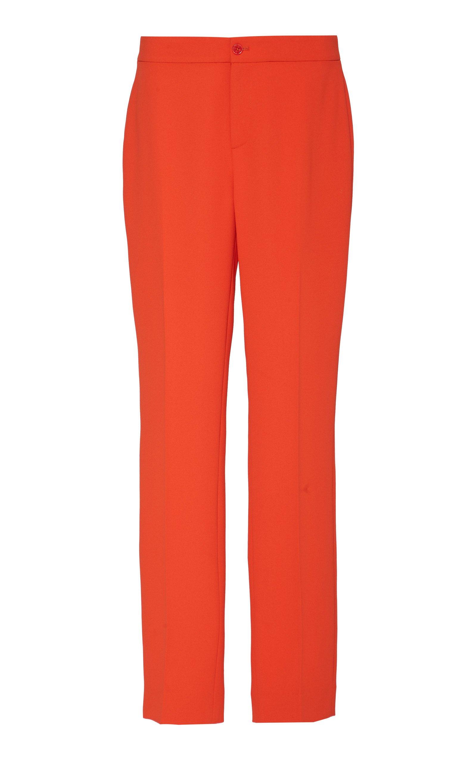 Ralph Lauren Carlina Crepe Cady Mid-Rise Straight-Leg Pants