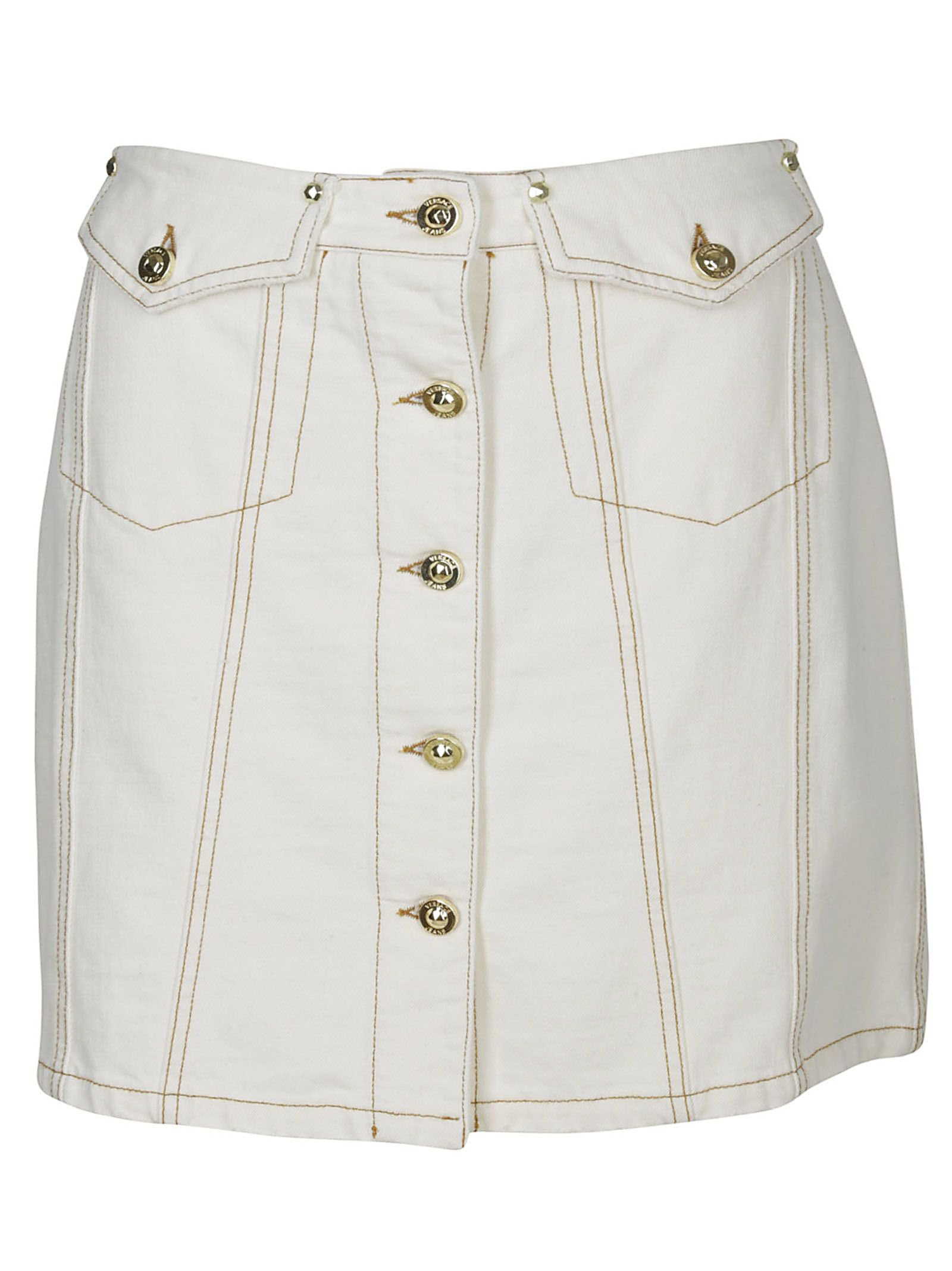 Versace Jeans Buttoned Mini Skirt