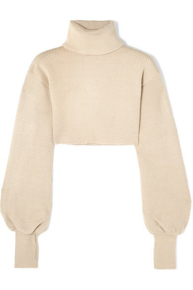 Orseund Iris   Cropped ribbed-knit turtleneck sweater   NET-A-PORTER.COM