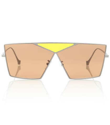 Square metal sunglasses