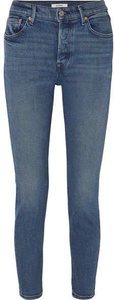 Karolina High-rise Skinny Jeans - Dark denim