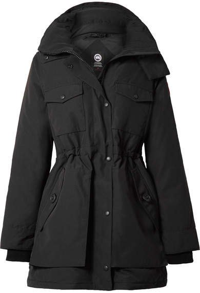 Gabriola Hooded Quilted Shell Down Parka - Black