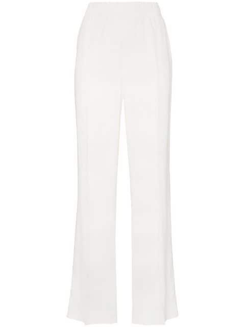 Helmut Lang high-waisted Crepe Track Pants - Farfetch