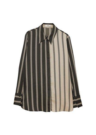 MANGO Satin striped shirt