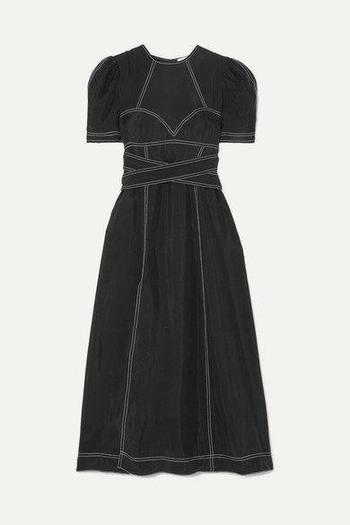 alice McCALL   Hachi brushed-twill midi dress   NET-A-PORTER.COM