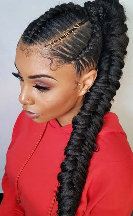 23 New Ways to Wear a Weave Ponytail | StayGlam