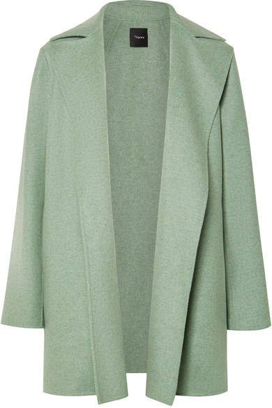 Wool And Cashmere-blend Coat - Light green