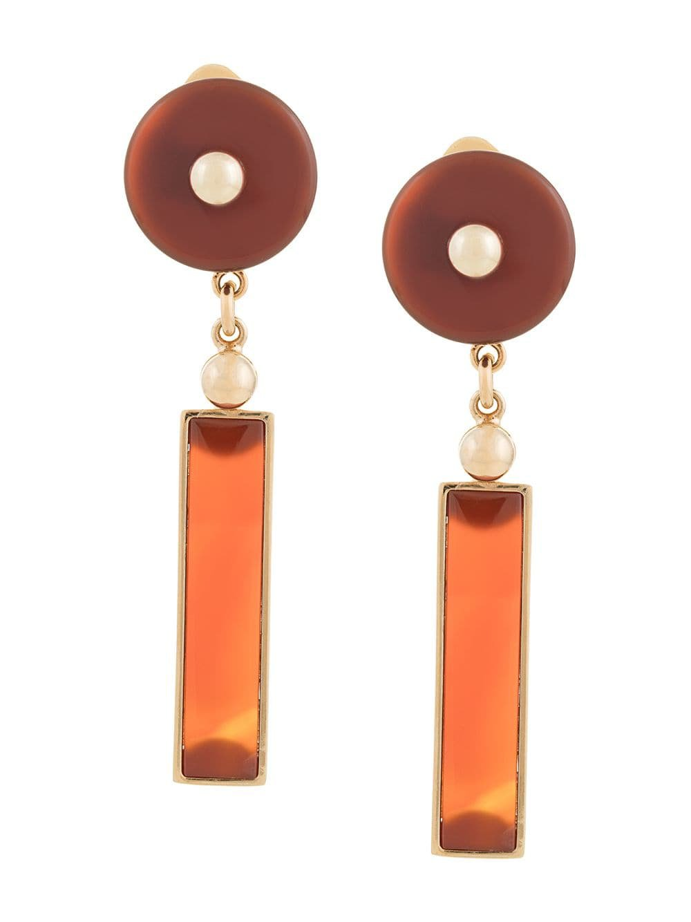 Crystalline Long Agate Earrings - Farfetch