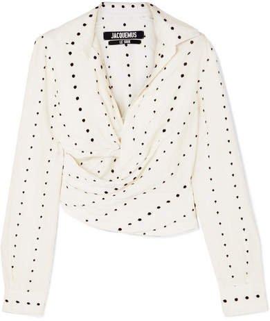 Nissa Cutout Fil Coupé Voile Shirt - White
