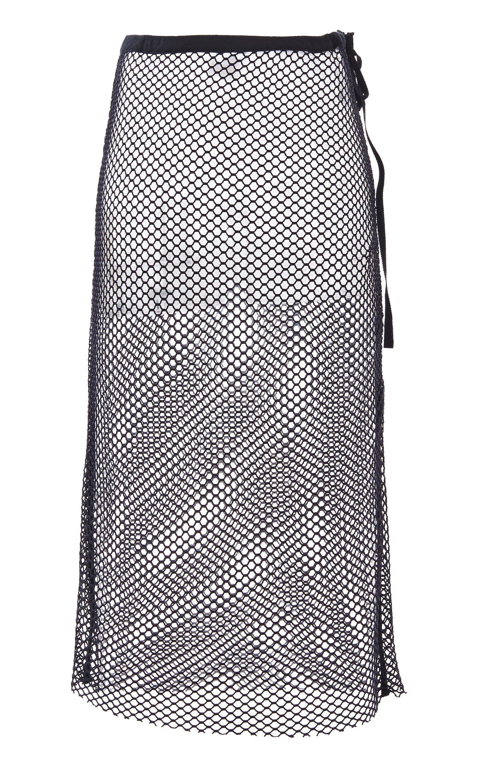 Ann Demeulemeester Mesh Midi Skirt Size: 42