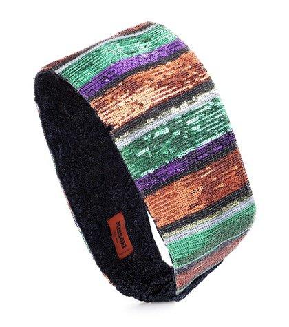 Sequined striped headband