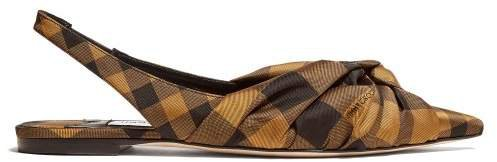 Annabell Check Slingback Flats - Womens - Black Multi
